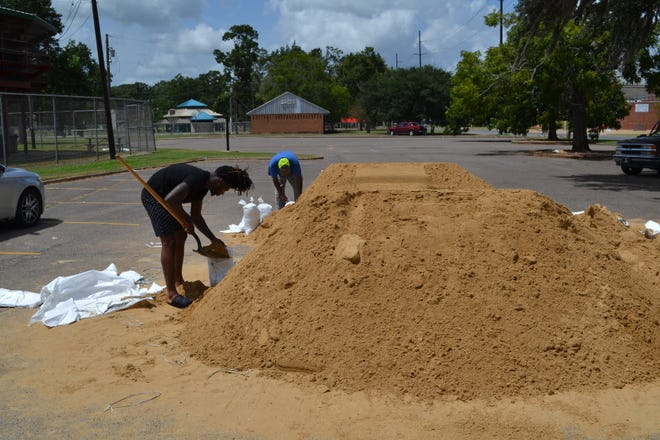 Bags and sand will be available for Alexandria residents preparing for Tropical Storm Nicholas beginning Tuesday morning.