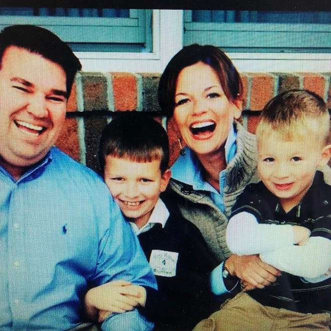 Sandra and Pat Began are pictured with their two boys, Jack and Charlie. After Pat died by suicide nine years ago, Sandra has coped with the loss through counseling and reaching out to others who've experienced the same.