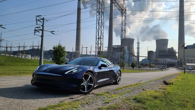 Not zero emissions. The 2021 Karma GS-6 can run on electric-only power, but that power comes from a carbon-powered electric grid. Example: The John Amos power plant in West Virginia.