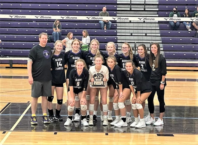 The Bloom-Carroll varsity volleyball team won the 10-team Wayne Roller Memorial Tournament, which was held at Pickerington North High School. The Bulldogs went 3-0 in the tournament.