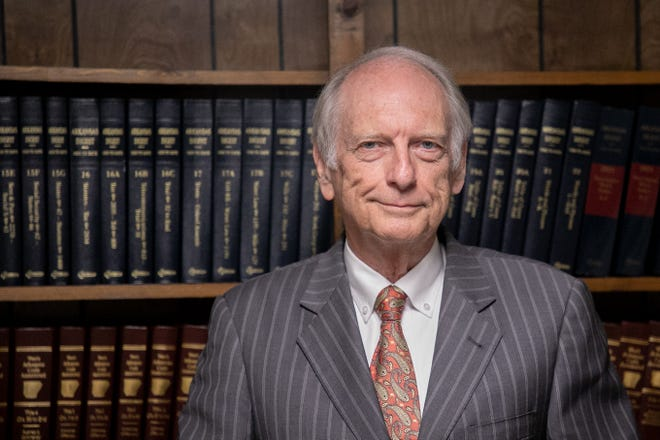 Ted Sanders of Sanders, Morgan & Clarke has been practicing law in Mountain Home for 50 years. He is best known for rezoning almost every square inch the city.
