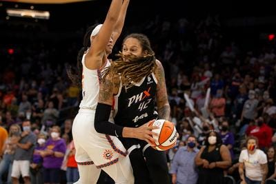 Phoenix Mercury center Brittney Griner is WNBA Western Conference Player of the Week for a franchise record fifth time.