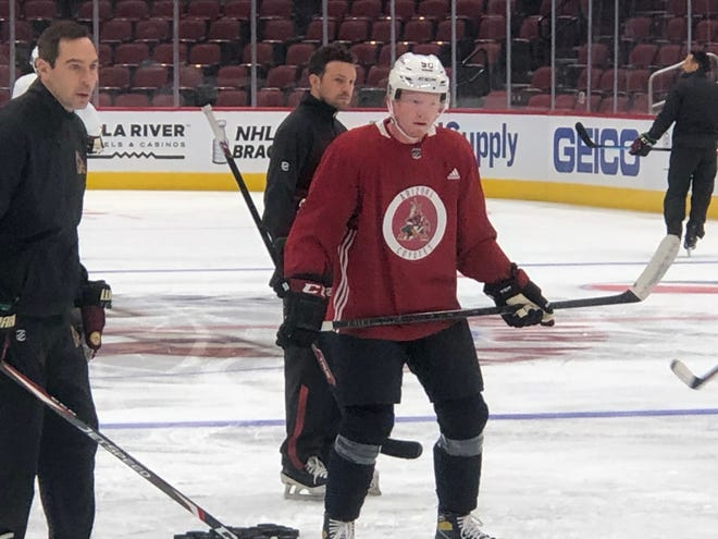 Coyotes 2020 draft pick Ben McCartney has been taking part in development camp with the team over the past few days.