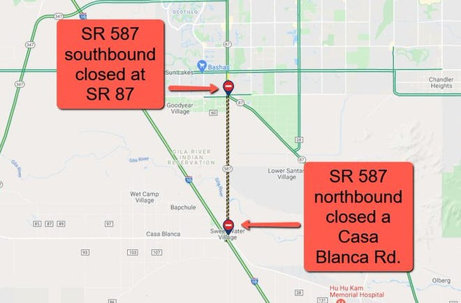 State Route 587 was closed Sept. 13, 2021, after a fatal accident.