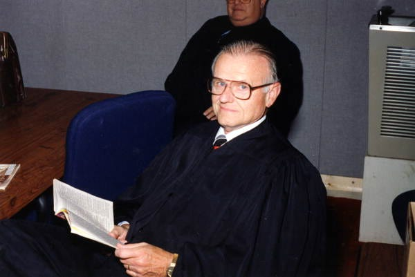 Stephen Grimes, shown during a Florida Supreme Court Historical Society oral history program ceremony to acknowledge and celebrate the career of ex-justice Joseph A. Boyd (served from January 7, 1969 to January 6, 1987).