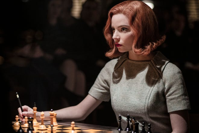 Anya Taylor-Joy plays chess prodigy Beth Harmon on Netflix