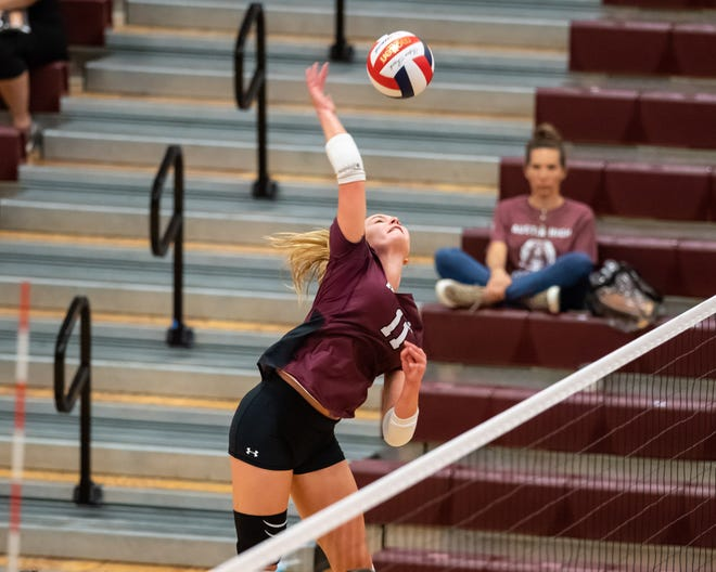 Austin High's Brooke Jeffrey, a senior, led the Maroons on the week with 23 kills as the Maroons took statement-making sweeps of both Round Rock and Westlake.
