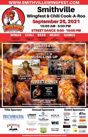 Smithville Winfest & Chili Cook-A-Roo and street dance on Sept. 25.