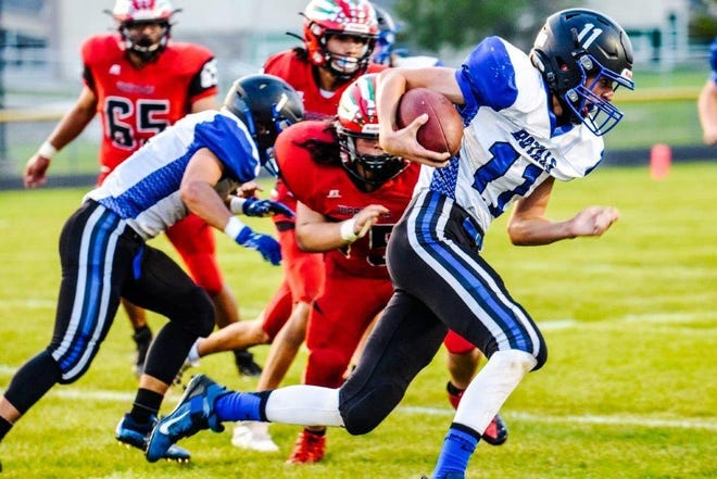 Quarterback Kenny Cutler ran for 62 yards and two touchdowns in Colo-NESCO's 66-26 victory over Meskwaki Friday at Tama.