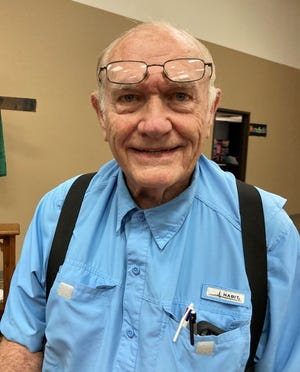 Master forager Charlie Griffith gave an interesting program on edible plants at the Franklin County Retired School Employees Association meeting held Sept. 13.
