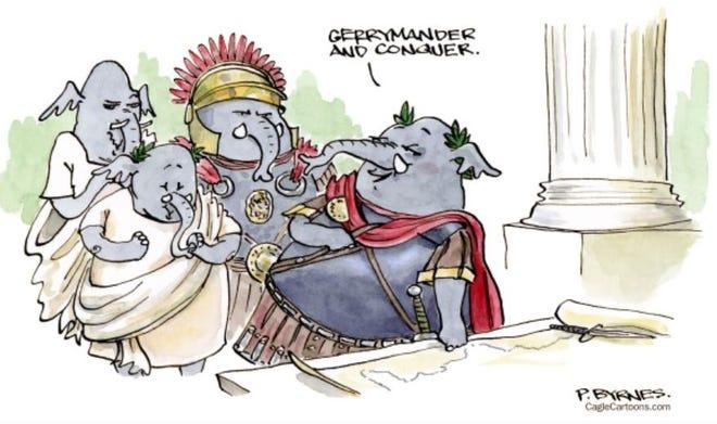 Gerrymander and Conquer cartoon by Pat Byrnes, PoliticalCartoons.com