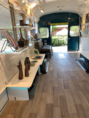 Reynoldsburg's Rex and Jennifer Brown will attend the Mill Street Market, the Gahanna flea market, selling oil, acrylic, and encaustic paintings, etchings and relief prints, raku-fired ceramics and fused glass on Artee the Art Bus, a mobile art gallery.