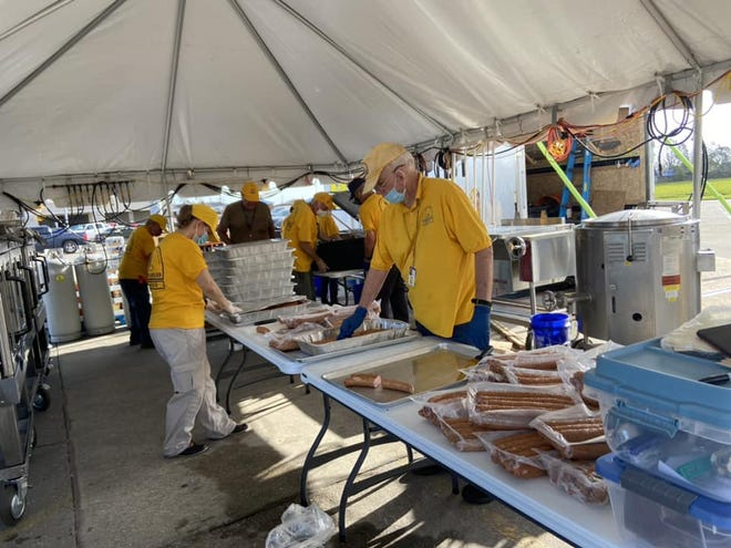 The Salvation Army is operating a field kitchen in the parking lot of Rouses' Village East supermarket, 9565 E. Park Ave., Houma.