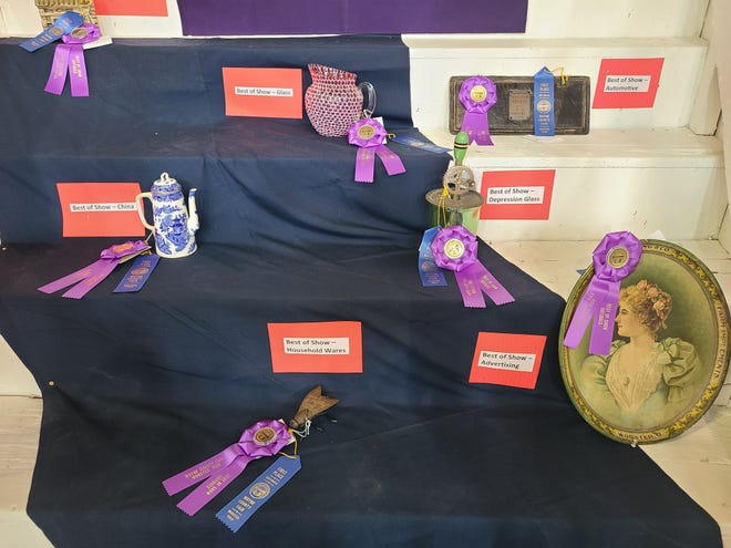 Best of Show Glass Rosette went to Denny  Peterman of Smithville. Best Of Show Household Wares Rosette went to Frank  Bishop of Wooster. Best of Show Advertising Rosette went to Sean  Donley of Wooster. Best of Show Depression Glass Rosette went to Ruth Arleen  Amstutz of Wooster. Best of Show China Rosette went to Patty  McFadden of Smithville. Best of Show Automotive Rosette went to Dan  Shadburn of Wooster.