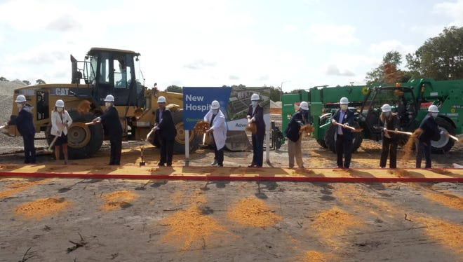 AdventHealth and Palm Coast officials break ground on AdventHealth Palm Coast Parkway during Tuesday's Facebook Live event.
