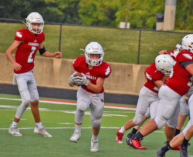 The Coldwater JV Cardinals fell to Pennfield Monday night