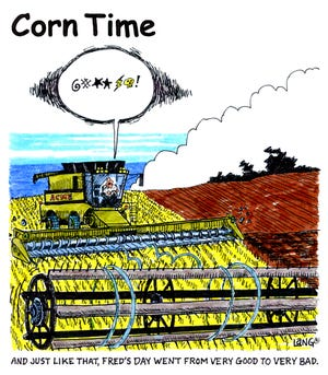 Corn Time cartoon.
