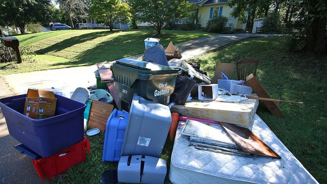 Gastonia residents along Huntington Drive take part in the free trash week offered by the city of Gastonia. Twice a year, once in the spring and once in the fall, Gastonia allows residents to throw away an unlimited amount of trash for free. The fall free trash week is Sept. 20-24.