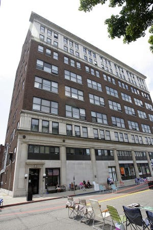 The 59 Duncan Place apartment complex in downtown Massillon is up for auction. Bids are being accepted until 1 p.m. Wednesday.