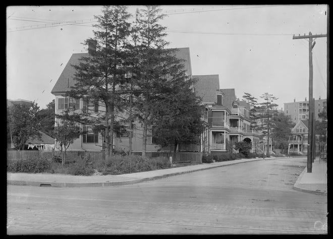 Here is Barbara Street in Jamaica Plain as it was in 1909. Learn more from Digital Commonwealth at www.digitalcommonwealth.org.