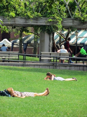 Christopher Columbus Park is a great place to relax on a nice day.