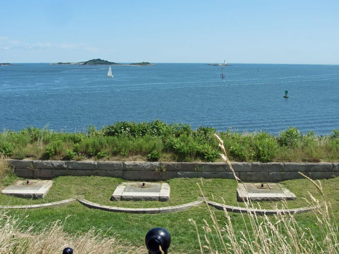 Here's a view of Boston Harbor from Fort Warren on George's Island.
