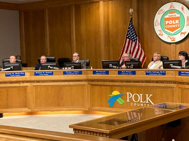The Polk County Commission, shown here, tentatively approved a $2.1 billion budget, its largest ever, Tuesday