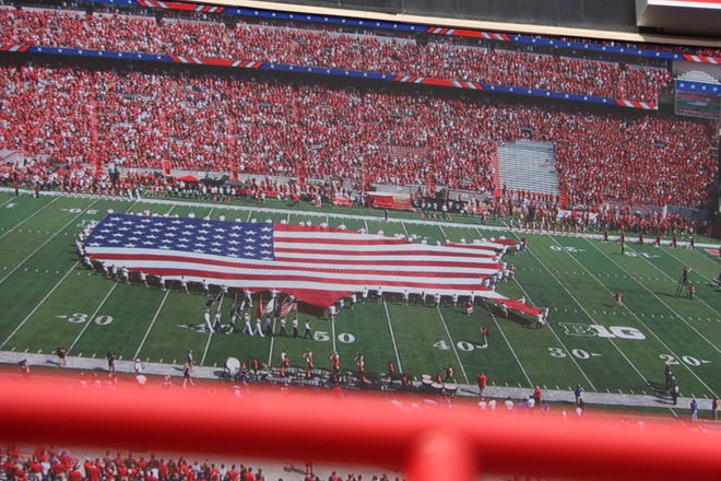 Nebraska topped Buffalo to move to 2-1 on the season during action on  Saturday. Sept. 11. In addition to the football game, the day featured patriotic tributes to honor Patriot Day on the 20th anniversary of terrorist attacks against the United States.
