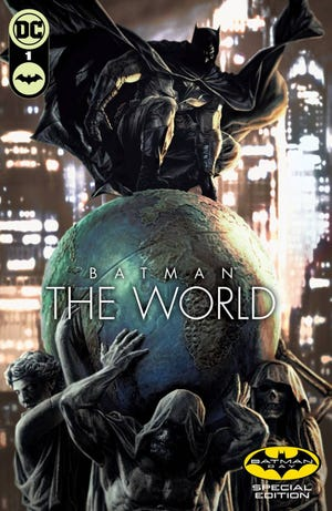 """A Brian Azzarello/Lee Bermejo story will be featured in the """"Batman: The World"""" sampler for Batman Day."""
