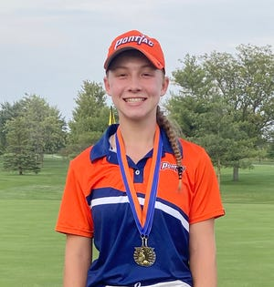 Dani Grace Schrock shot a one-over par 73 to earn medalist honors at the Pontiac Invite golf tournament Monday.