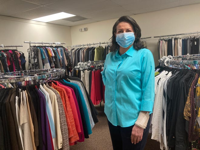Mati Rodriguez, a client at Dress for Success' Belle Glade office. For women, she says there are few retail stores in her community that provide work-appropriate clothing.