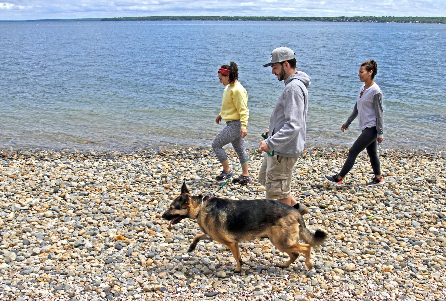 Walking along Rome Point at the John H. Chaffe Nature Preserve in North Kingstown.