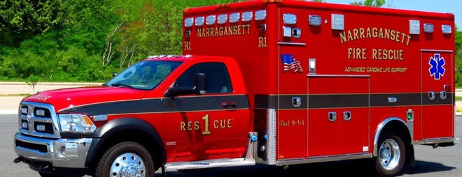 A Narragansett Fire Department ambulance