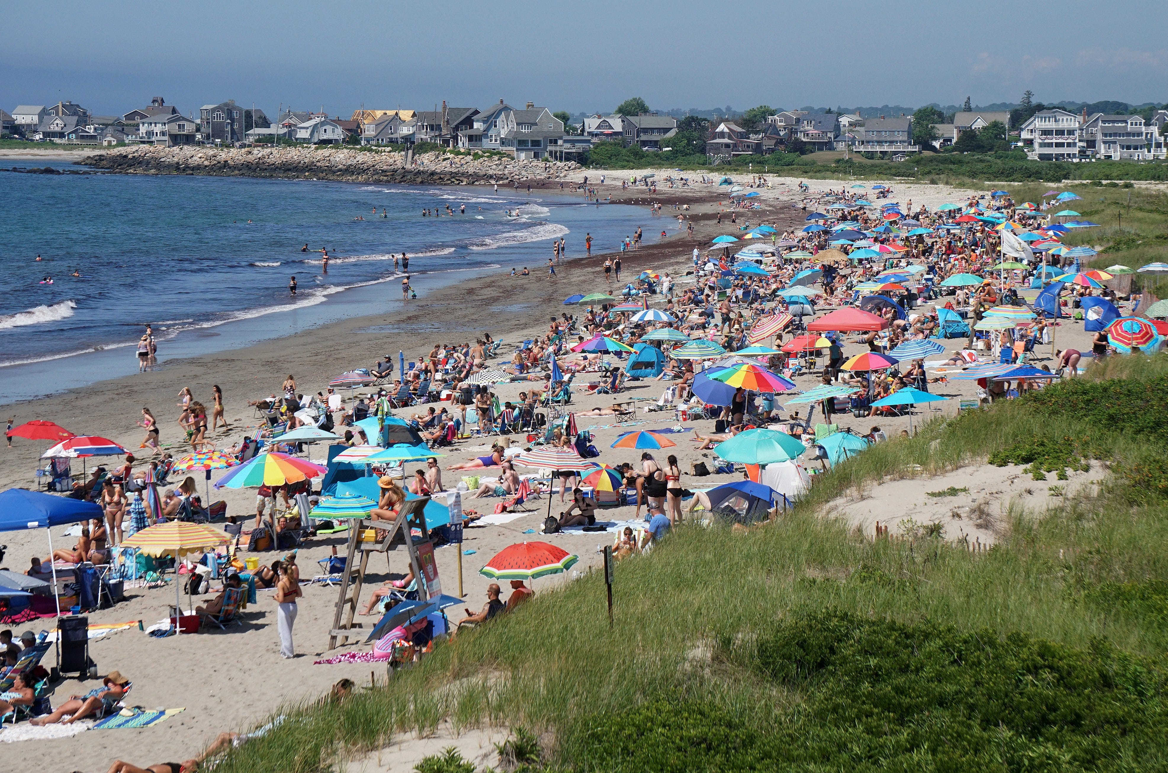 East Matunuck Beach is a popular place to enjoy the water and sun.