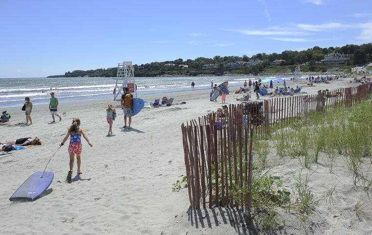 Beachgoers are drawn to Easton's Beach in Newport every summer.