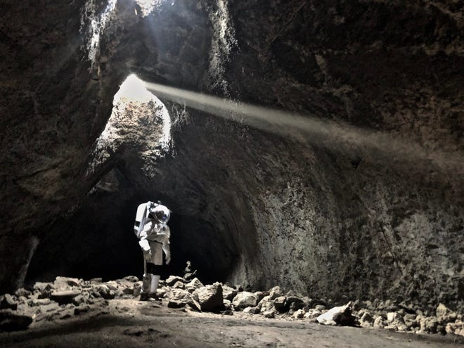 NASA Haughton-Mars Project field tested new technologies for human moon and Mars science and exploration at Skylight Cave in Oregon.