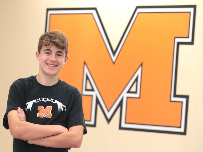 Carter Frank, a 13-year-old eighth-grader at Marlington Middle School, is The Alliance Review's Robertson Heating Supply Kid of Character for September. Photo taken Tuesday, Sept. 14, 2021.