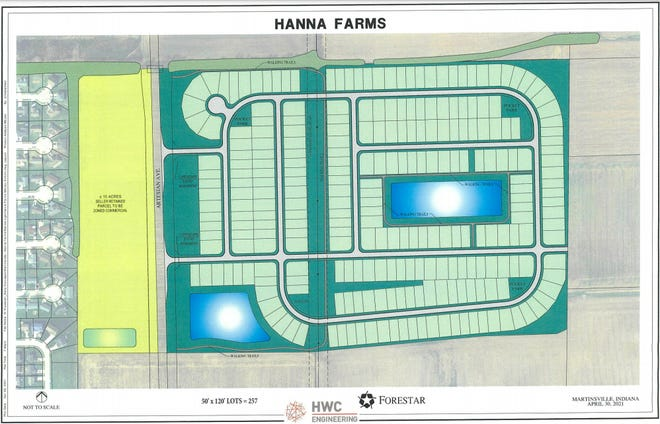 Hanna Farms has agreed to sell 85 acres of farmland to be developed into more than 250 homes off Artesian Avenue in Martinsville.