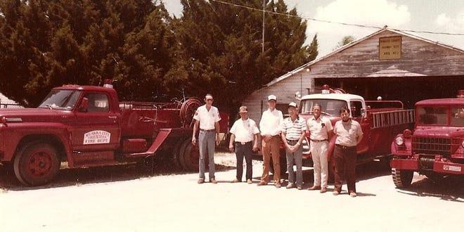A historic photo of the Myakka City Volunteer Fire Department.