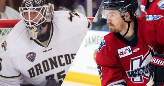 Trevor Gorsuch and Kyle Blaney will play for the K-Wings this season.
