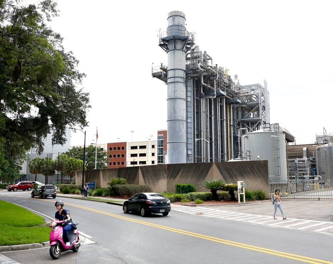 The Duke Energy Cogeneration Plant on the University of Florida campus. Its closure has led UF to seek a partner to build a new plant.