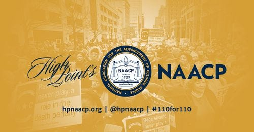 The logo for High Point's NAACP. The High Point Branch is currently spearheading an effort to establish a reparations commission in High Point