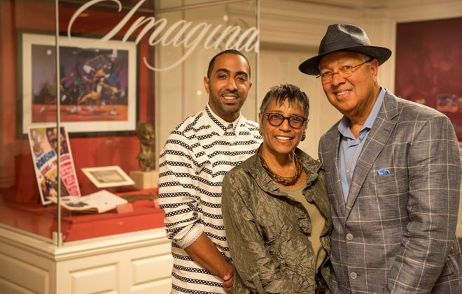 The Kinsey family — from left, Khalil, Shirley and Bernard Kinsey — will bring their nationally recognized collection of African American art and history to Florida State University Panama City for a exhibition from April 1 to July 3, 2022.