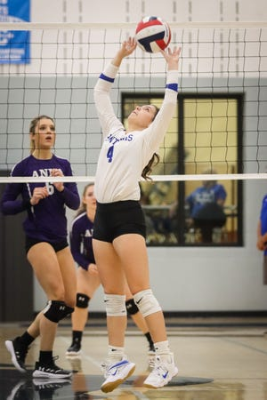 Lanie Thorpe has been the lone setter since Abby Lange has been sidelined.