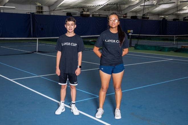 Peter Chen and Katelyn Xue, of Weston, were selected to be a part of the Laver Cup 2021 Boston Ballkid Squad.