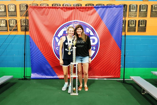 Franklin's Lauryn DiGiorgio's helped her 8th grade Honey Badgers team win a DII World Championship this summer.