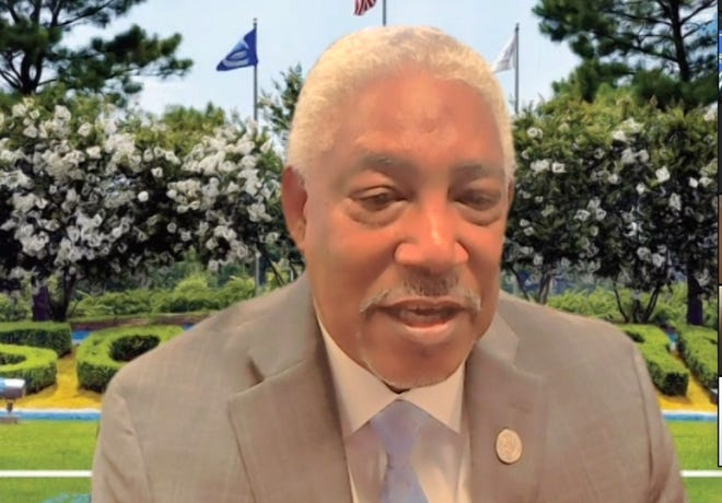 Southern University President-Chancellor Dr. Ray Belton spoke to the Rotary Club of Alexandria via Zoom Tuesday.