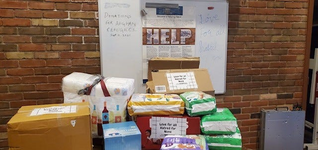 The Oshkosh Ahmadiyya Muslim Community collected donations from its members to deliver to Afghan evacuees living at Fort McCoy in Tomah.