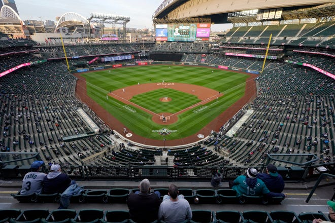The Mariners announced a news conference for Thursday at Seattle's Space Needle with baseball Commissioner Rob Manfred. The purpose of the news conference is to announce that Seattle will be the site of the 2023 All-Star Game, an AP source said. (AP Photo/Ted S. Warren, File)