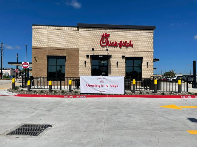 Chick-fil-A is slated to have its grand opening Sept. 23 at 1125 US Highway 181 Frontage in Portland.